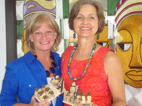 Teresa Sabatini and Marilyn LeBlanc at their last board meeting.