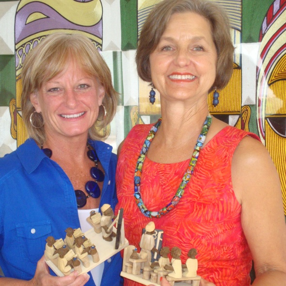Teresa Sabatini and Marilyn LeBlanc at their last board meeting.