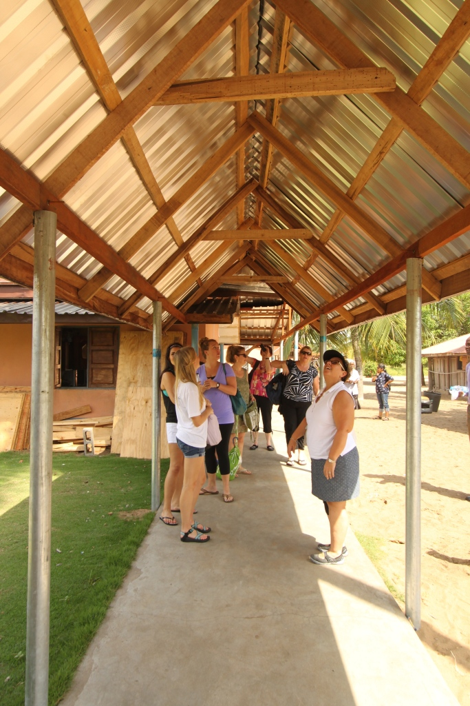 The new covered walkway at Ishahayi.